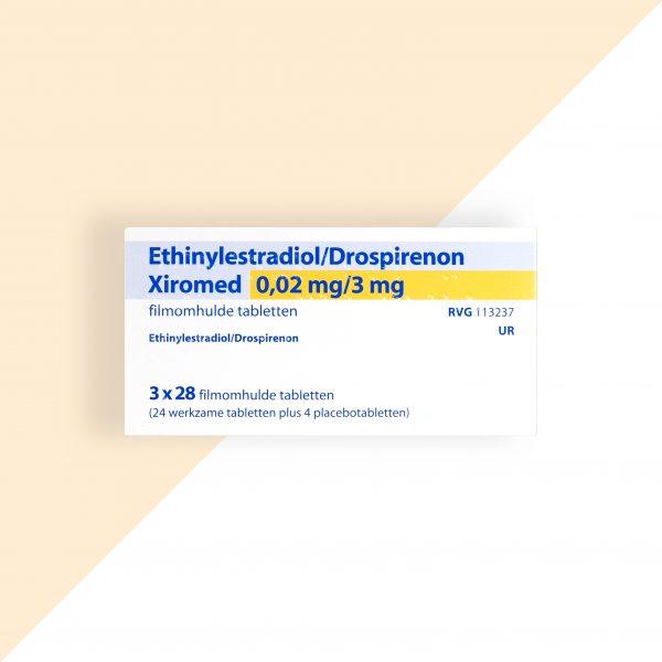 Ethinylestradiol/ Drospirenon 0,02/3mg 24+4 Xiromed